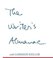 writer's almanac